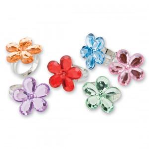 Flower Gem Rings