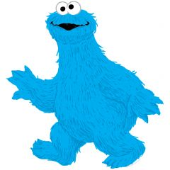 Cookie Monster Sesame Street Wall Decal