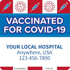 Custom Vaccinated for COVID Stickers