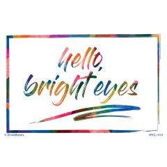 Rainbow Hello Vision Recall Cards