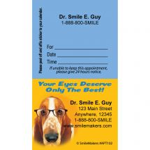 Custom Dogs Eyecare Appointment Cards