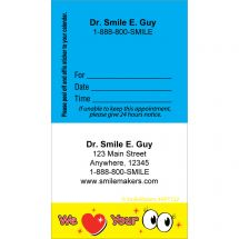 Custom We Love Your Eyes Sticker Appointment Cards