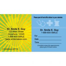 Custom Yellow Burst Medical Sign Appointment Cards