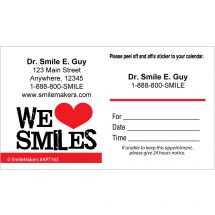 Custom We Love Smiles Appointment Cards
