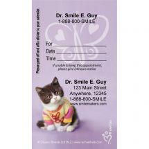 Custom Rachael Hale Purple Cat Appointment Cards