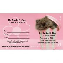 Custom Rachael Hale Pink Cat Appointment Cards
