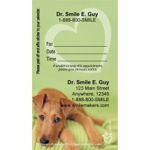 Custom Rachael Hale Green Pup Appointment Cards