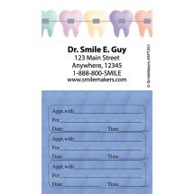 Custom Color Braces Three Sticker Appointment Card