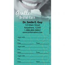 Custom Gentle Dental Three Sticker Appointment Cards