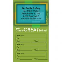 Custom Great Smiles Three Sticker Appointment Card