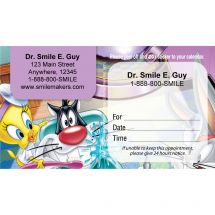 Custom Tweety & Sylvester Sticker Appointment Cards