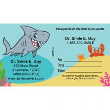 Custom Sea Life Pals Sticker Appointment Cards