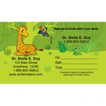 Custom Jungle Friends Sticker Appointment Cards
