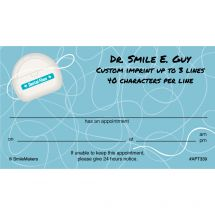 Dental Floss Appointment Cards