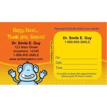 Custom Braces Monkey Appointment Cards
