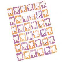Scatter Orange & Purple Tooth Bags