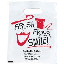Custom Black, White, Red Brush Bag