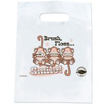 Oxo-biodegradable Brush Floss Smile Bags