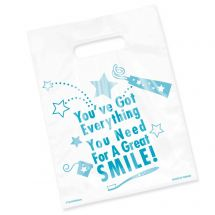 Clear Everything You Need Smile Bags