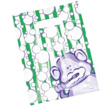 Scatter Brush, Floss, Smile Monkey Bubbles Bags