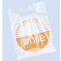 Clear Orange Smile Bags