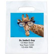 Custom Giraffe with Glasses Bags