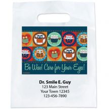 Custom Wise Owls Eyecare Bags