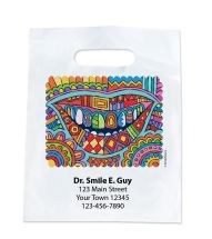 Custom Modern Art Smile Bags