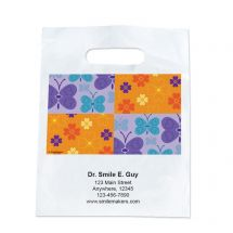 Custom Butterflies and Flowers Dental Take Home Bags