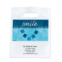 Custom Abstract Smile Take Home Bags