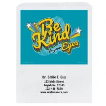Custom Be Kind to Your Eyes Paper Bags