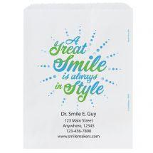 Custom A Great Smile Burst Paper Bags