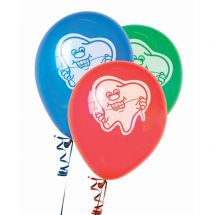 Tooth with Floss Latex Balloons