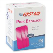 First Aid Pink Bandages - Case