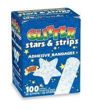 Glitter Stars & Strips Bandages - Case