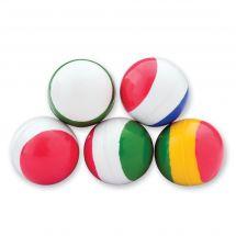 29mm Tri-Colored Stripe Bouncing Balls