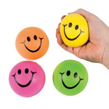Colorful Smiley Face Stress Balls