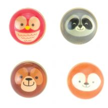 31mm Woodland Animals Bouncing Balls