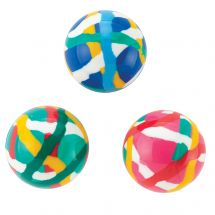 30mm Colorful Doodle Bouncing Balls