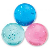 42mm Pastel Glitter Bouncing Balls