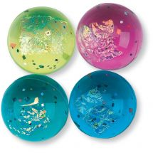 33mm Fire and Ice Glitter Bouncing Balls