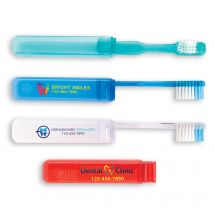 Custom Full Color V-Trim Economy Travel Toothbrushes