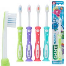 GUM® Toddler Monsterz Suction Cup Toothbrushes