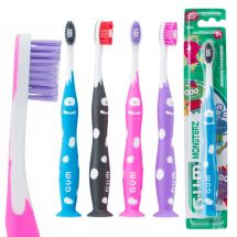 GUM® Monsterz Youth Suction Cup Toothbrushes