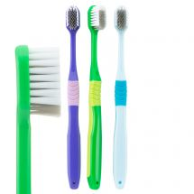 SmileCare Adult Compact Comfort Grip Toothbrushes