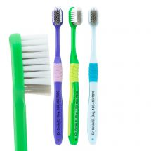 Custom SmileCare Adult Compact Comfort Grip Toothbrushes