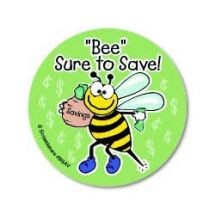 Bee Sure To Save Stickers