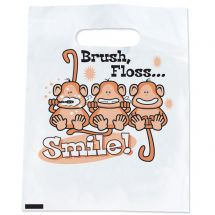 Brush, Floss Smile Monkeys Bags