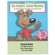 Custom Save Money Coloring Books