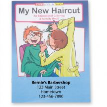 Custom My New Haircut Coloring Book